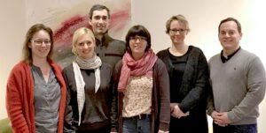 Die AG Werkzeugkasten im Forum Weiterbildung (v.l.): Dr. Sabine Frohnes, Dr. Jana Husemann, Timo Schumacher, Claudia Kahle, Ruth Deecke und Ruben Bernau.